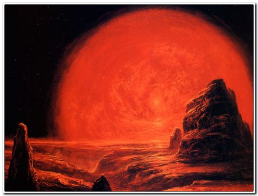 "Красный гигант Солнце"", художник Боб Эгглтон"
