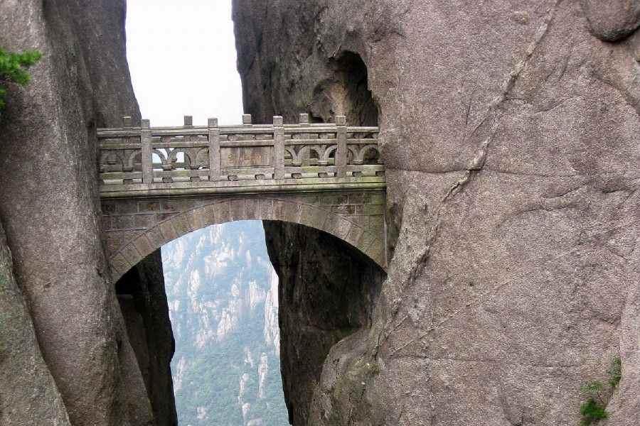 Мост «Дорога Бессмертных» в Китае.
