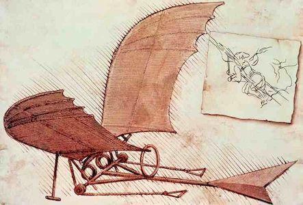"""""""летающие крыло"""" Леонардо"""